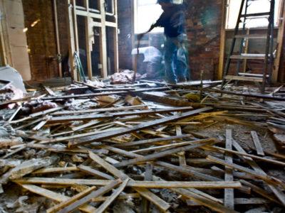 kitchen floor demolition