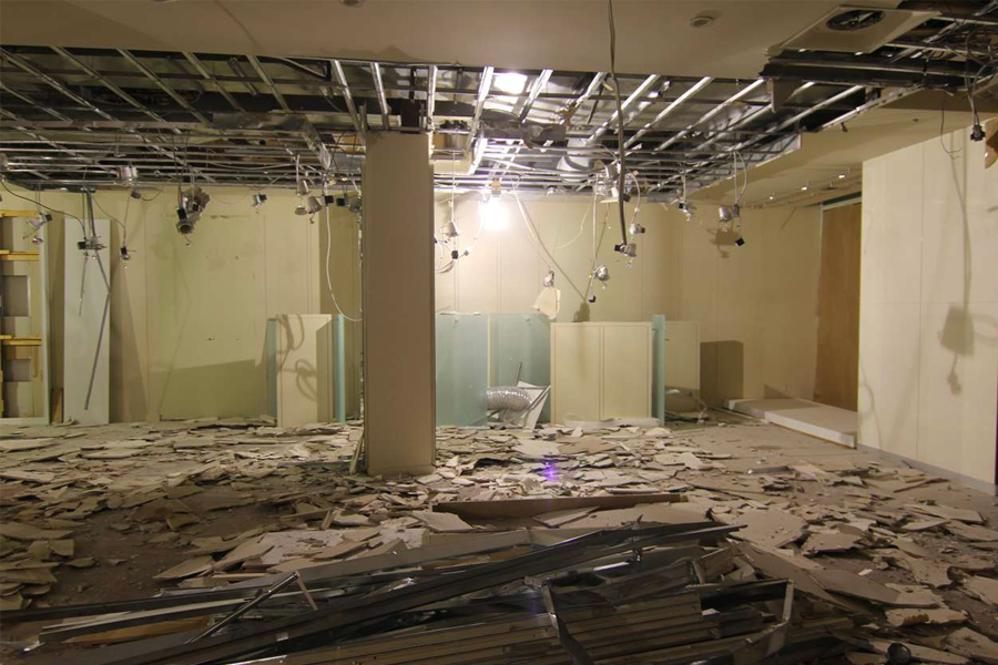 office interior demolition