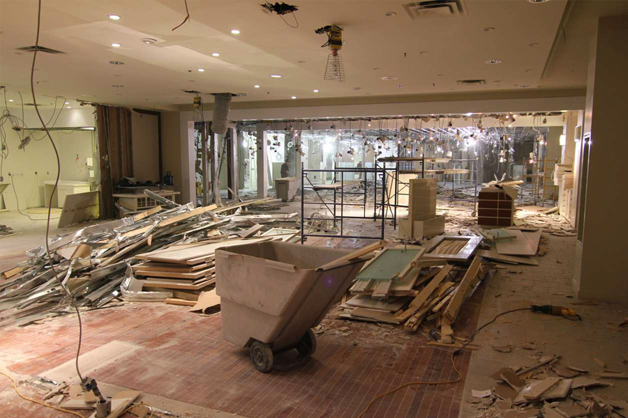 retail showroom demolition