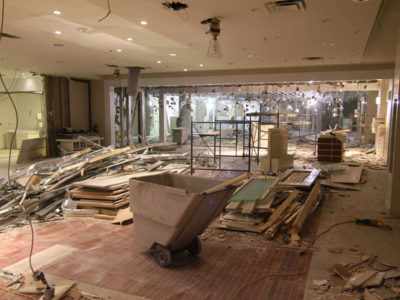 retail showroom demolition